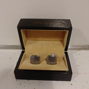Cufflinks silver dotted 925 sterling silver